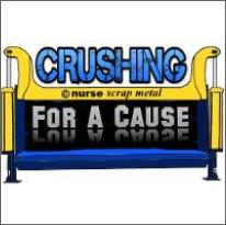 Crushing for a Cause – Turn your scrap metal into cash….Now ready to accept!