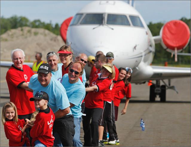 "May 30, 2015, Peterborough Airport, our 2nd annual 'Pulling for Patients Challenge""……"